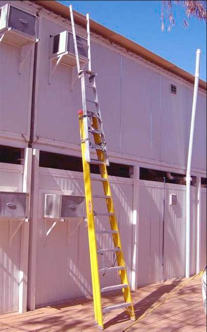 3 Unsafe Ladders Tied Together