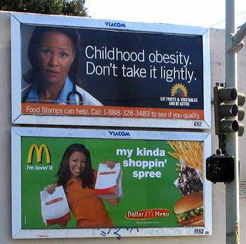 Billboard - McDonalds + Obesity