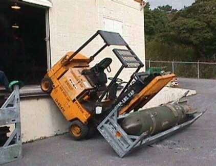 "Take this photo for example: ""Let me just drive this forklift off ..."