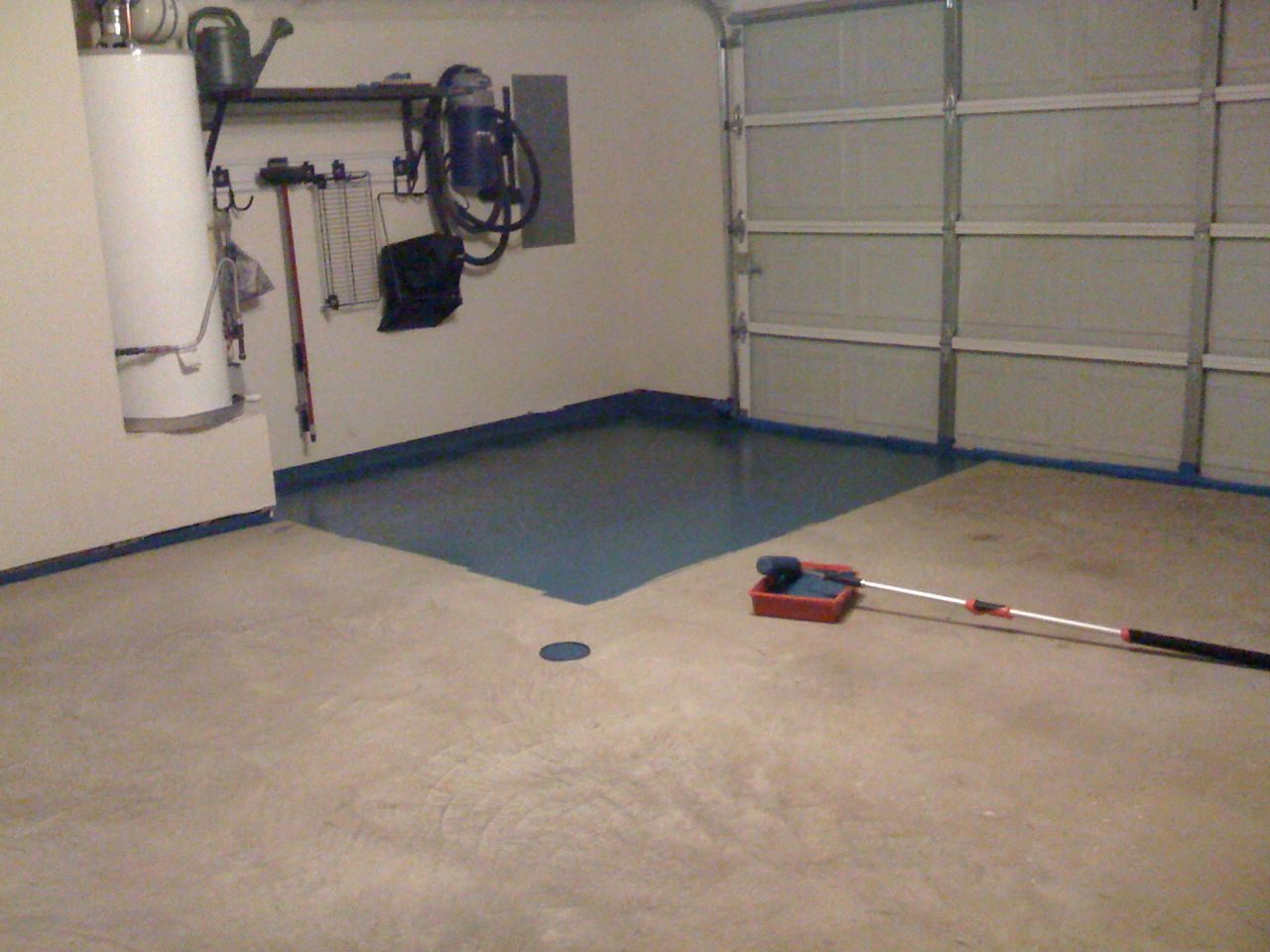 Painting Garage Floor Cheap Garage Floor Makeover In