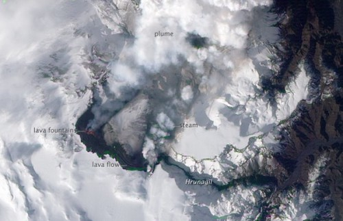 Iceland Volcano From Space