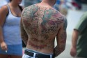 Back Tattoo at the Indy 500 2010