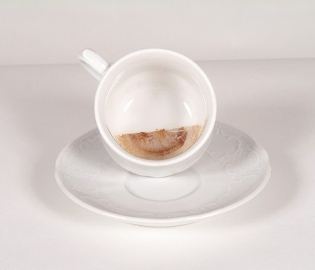 Coffee Cup Treated with Liquid Glass