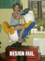 Donald Duck Ride Fail