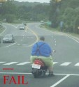 Fat Guy Scooter Fail