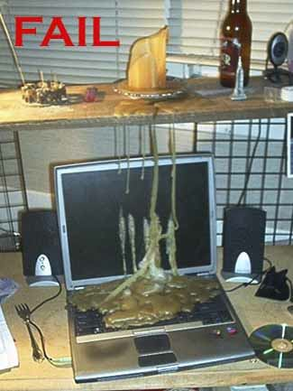 Melted Candle on Computer Fail
