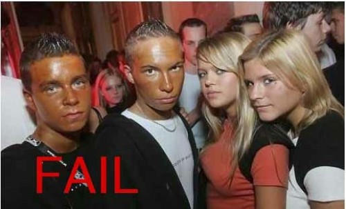Orange Fake Tan Face FAIL