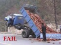 Overloaded Truck Fail