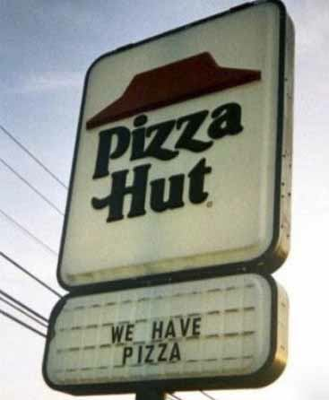 Pizza Hut Sign Fail