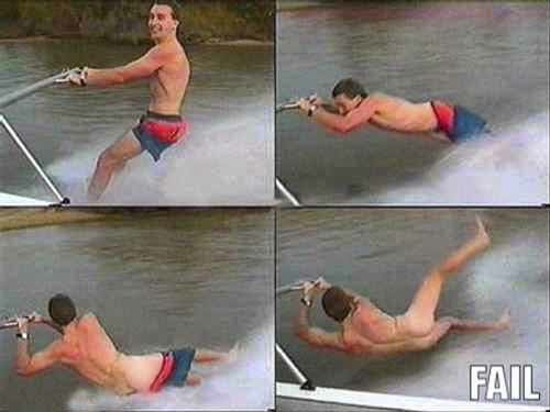 Waterskiing Fail