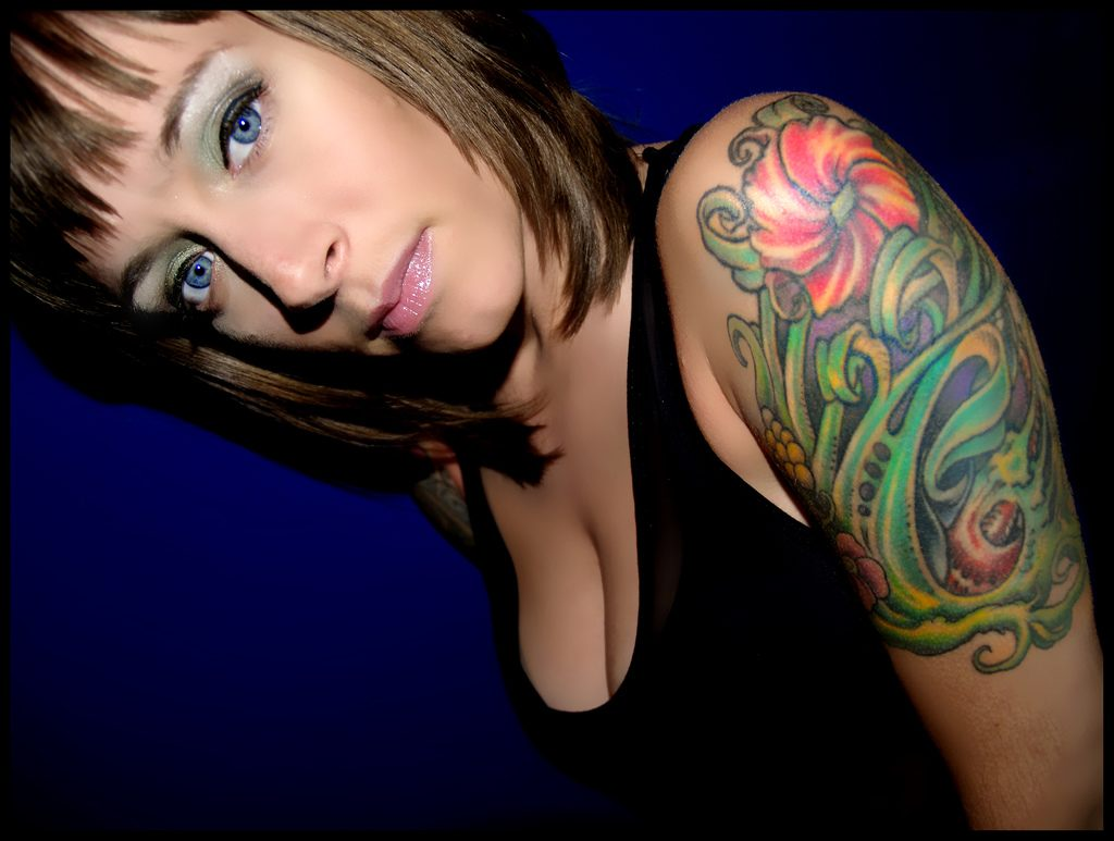 Woman with Sleeve Tattoo