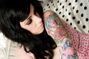 Pretty Woman with Sleeve Tattoo