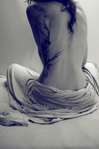 Sexy Woman Tattoo on Side