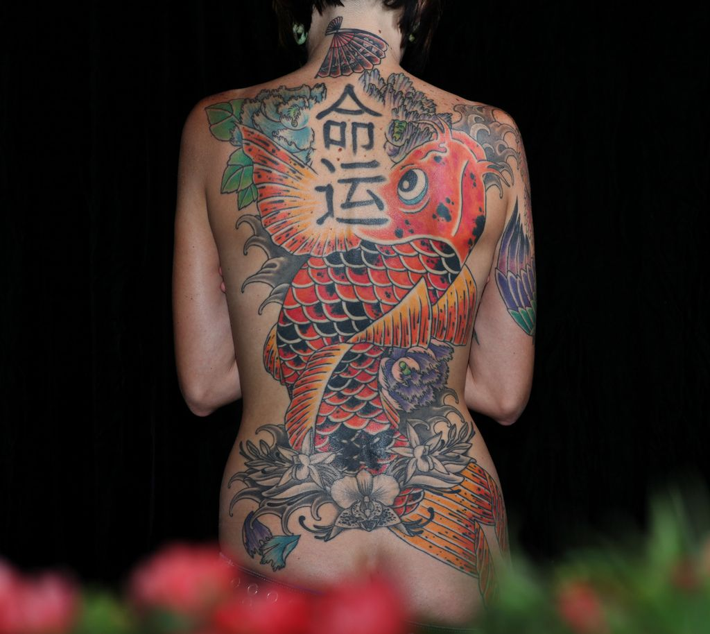 Japanese Back Tattoos for Women