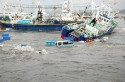 Japanese Fishing boats After Tsunami