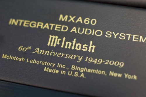 McIntosh MXA60 60th Anniversary Label