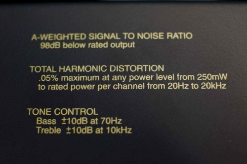 McIntosh MXA60 THD Label