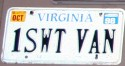 Funny License Plate - One Sweet Van