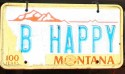 Funny License Plates - Be Happy