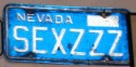 Funny License Plates - SexZee