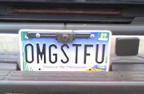 OMBSTFU License Plate