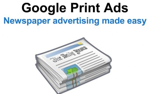 Google Print Ads