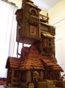 The Weasley's Burrow Gingerbread House