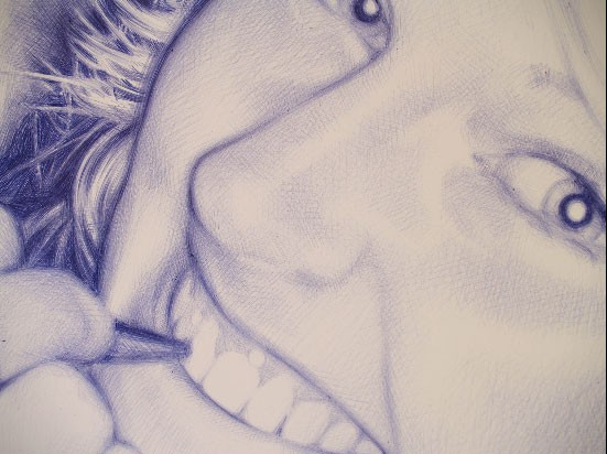 Closeup of Bic Pen Art