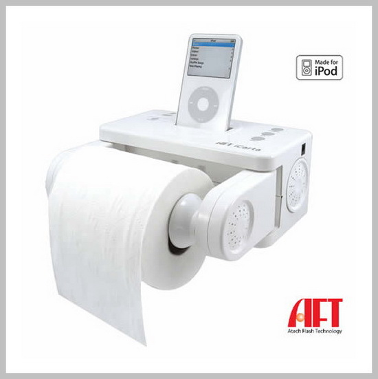 iPOD Stereo Dock and Toilet Paper Holder