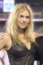 Kate Upton in Black Leather