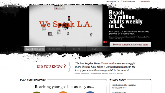 la times media kit
