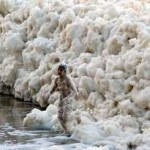 Pacific Ocean Near Sydney Turns to Foam