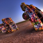HDR Photos from the Cadillac Ranch in Amarillo, Texas