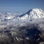 Aerial Photos of Mount Ranier for Your Desktop Wallpaper