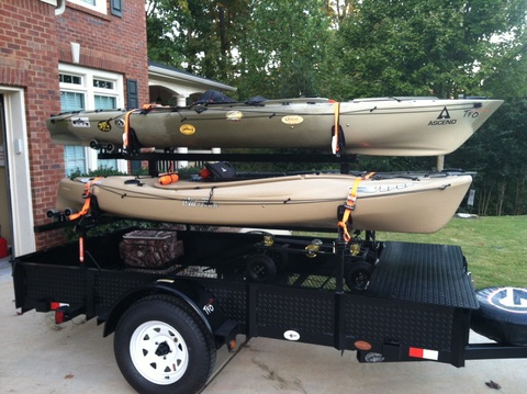 homemade enclosed trailer plans kayak trailers 30 photo ideas to buy or build your own