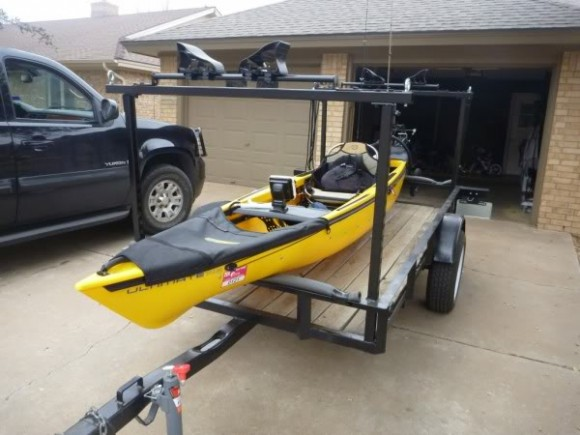 1000 images about canoes kayaks and trailers on pinterest for Fishing kayak trailer
