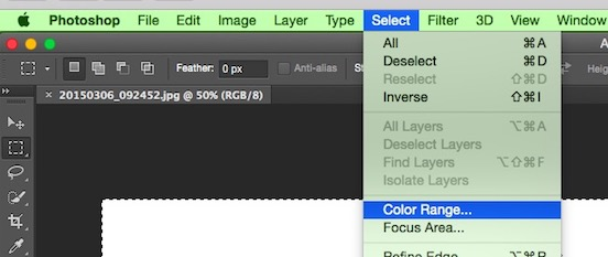 Photoshop Color Range