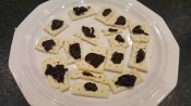 Crackers and Jam on plate