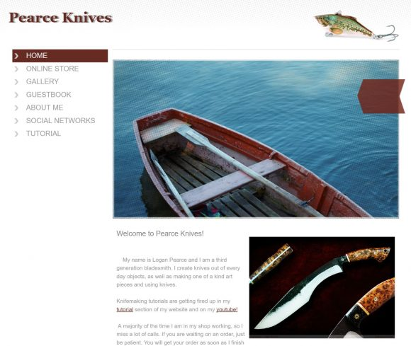 Pearce Knives Website