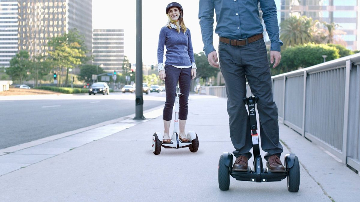 Riding Segway miniPRO