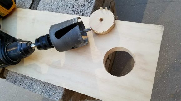 Drill Hole in Scrap